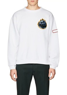 Acne Studios Men's Fire Forest-&-Lipstick Cotton Sweatshirt