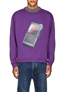 Acne Studios Men's Flames Tape-Recorder Cotton Sweatshirt