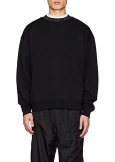 Acne Studios Men's Flogho Cotton Fleece Sweatshirt