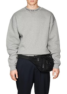 Acne Studios Men's Flogho Logo-Crewneck Cotton Sweatshirt