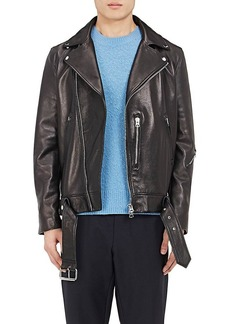 Acne Studios Men's Nate Leather Moto Jacket