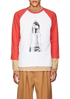 Acne Studios Men's Noise Lipstick Cotton Baseball T-Shirt