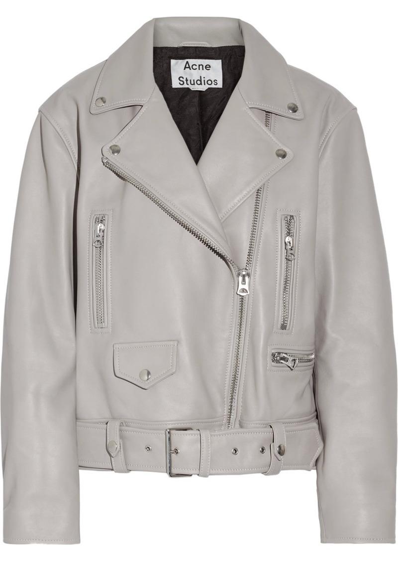 31adeab09 Merlyn oversized leather biker jacket