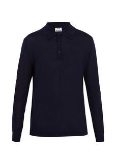 Acne Studios Nadir point-collar wool polo shirt
