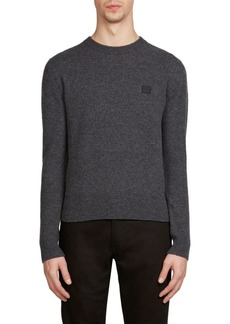 Acne Nalon Face Wool Sweatshirt
