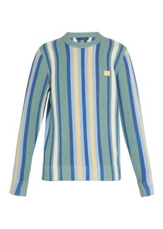Acne Studios Nalon striped towelling sweatshirt