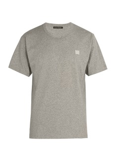 Acne Studios Nash Face-embroidered cotton-jersey T-shirt