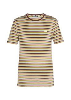 Acne Studios Nash Face striped cotton T-Shirt