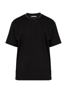 Acne Studios Navid logo-neck T-shirt
