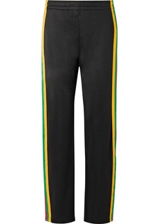 Acne Studios Norwich Face striped satin-jersey track pants