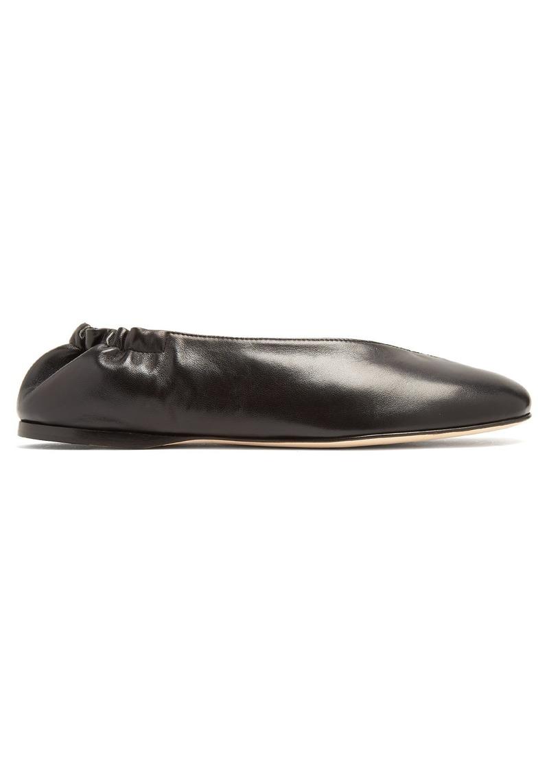41039fc22e26 Acne Studios Acne Studios Oddry elasticated-heel leather ballet ...