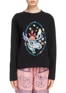 Acne Studios Oslavi Embroidered Moose Sweatshirt