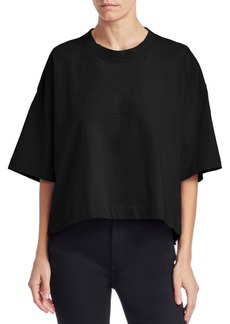 Acne Studios Oversized Cropped Cotton Tee