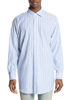 Acne Studios Oversized Stripe Chambray Shirt