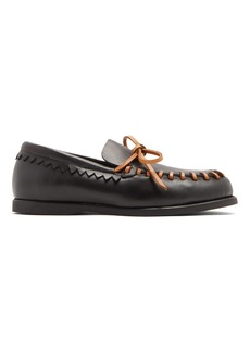 Acne Studios Paco leather deck shoes