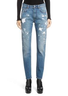 Acne Studios Paint Splatter Jeans (Mid Blue)