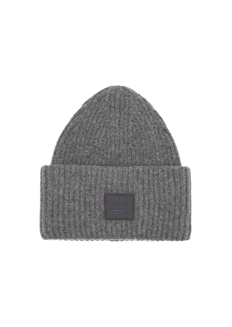 Acne Studios Acne Studios Pansy S Face ribbed-knit beanie hat  5222d61e8e7