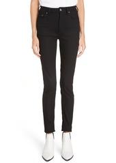 Acne Studios Peg High Waist Skinny Jeans (Black)