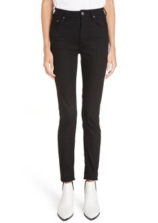 Acne Studios Peg High Waist Skinny Jeans (Black)