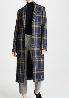 Acne Studios Plaid Long Coat