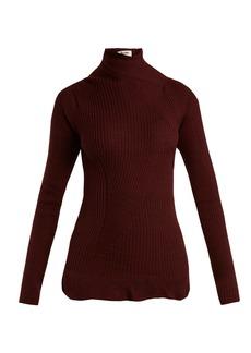 Acne Studios Rosie ruffled-hem wool-knit sweater