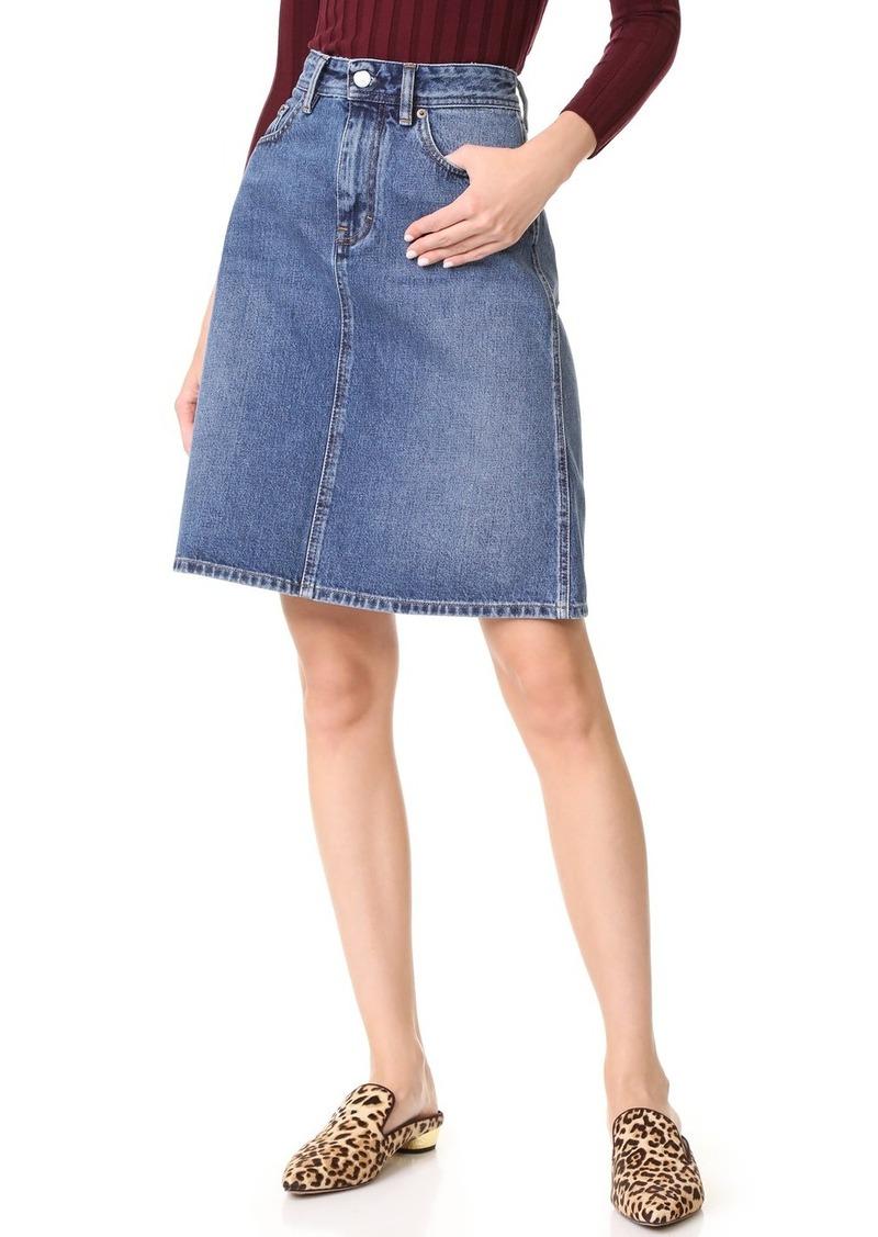 acne acne studios shadow denim skirt skirts shop it to me