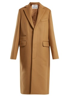 Acne Studios Single-breasted wool-blend coat