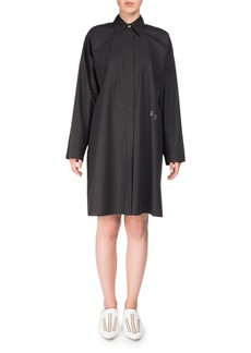 Acne Studios Spread-Collar Long-Sleeve Oversized Poplin Shirt Tunic
