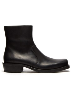 Acne Studios Square-toe leather ankle boots