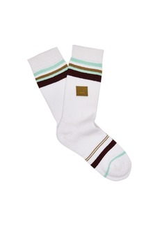 Acne Studios Striped cotton-blend socks