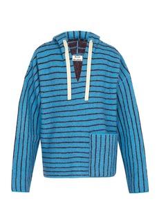 Acne Studios Striped hooded wool sweater