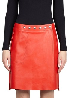 Acne Studded Leather Skirt