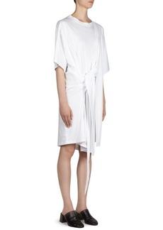 Acne Tie Back Cotton T-Shirt Dress