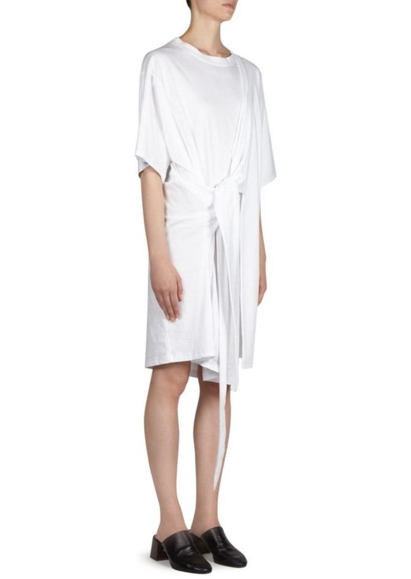 Acne Studios Tie Front Cotton Shirtdress Dresses
