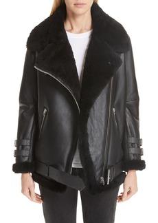 Acne Studios Velocite Genuine Shearling Moto Jacket