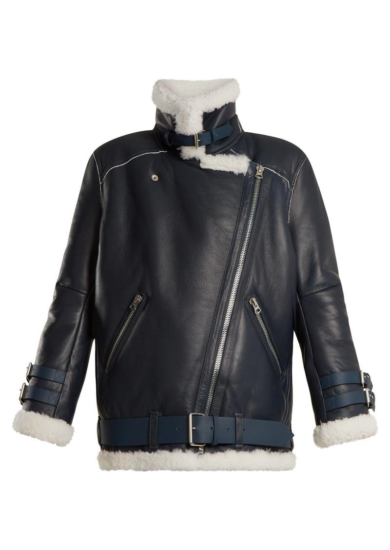 dd1a7de77 Velocite oversized shearling jacket