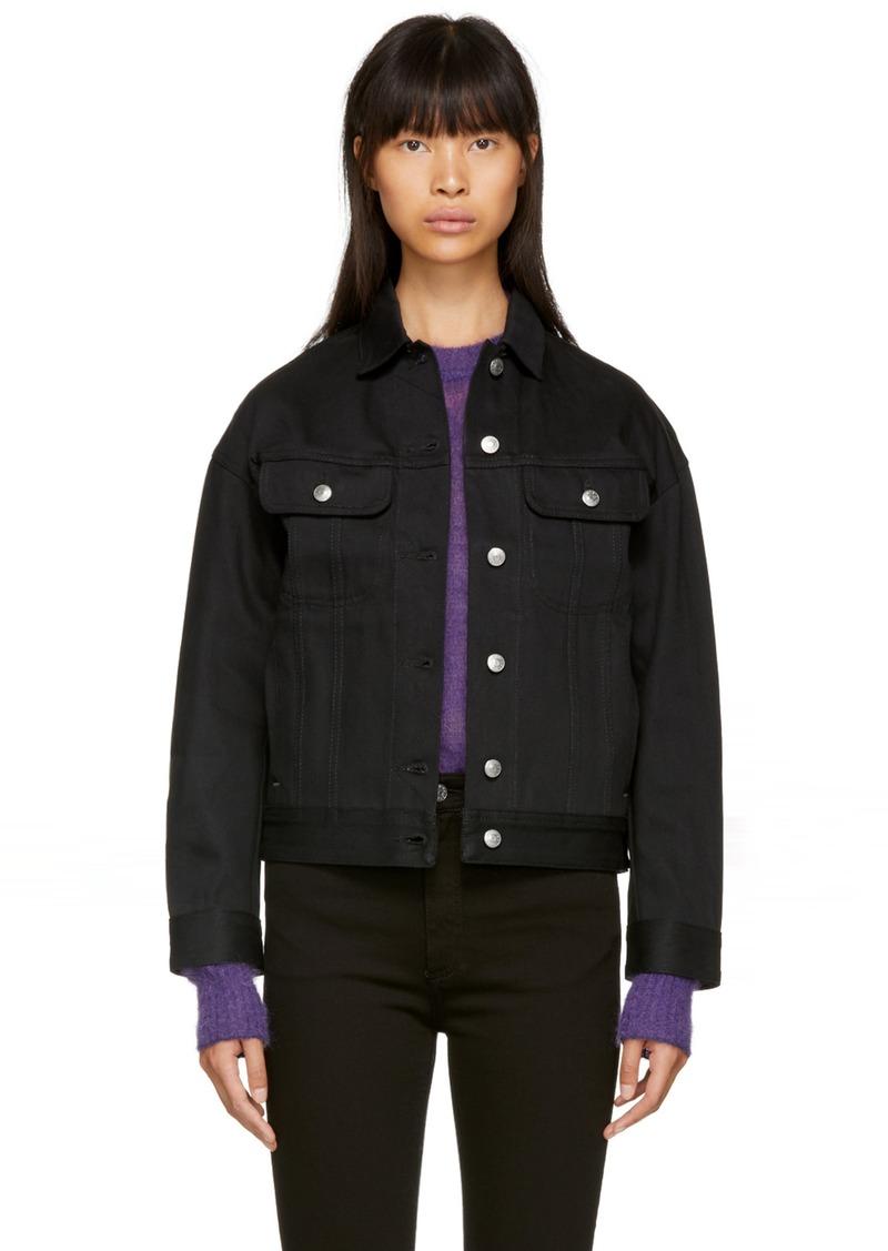 Acne Black Denim Jacket acne black lamp denim jacket | outerwear