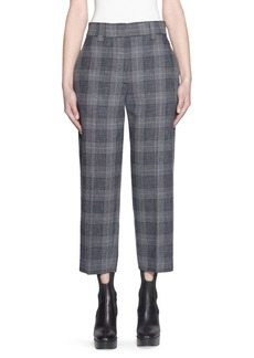 Acne Studios Cropped Wool Plaid Trousers