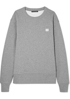 Acne Studios Fairview Face Appliquéd Cotton-jersey Sweatshirt