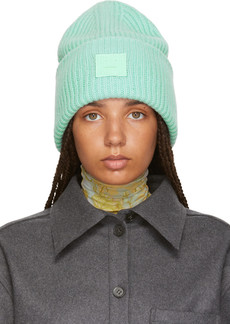 Acne Green Pansy N Face Beanie