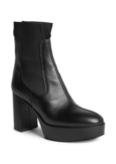 Acne Studios Leather Platform Ankle Boots