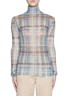 Acne Studios Long-Sleeve Fitted Plaid Top