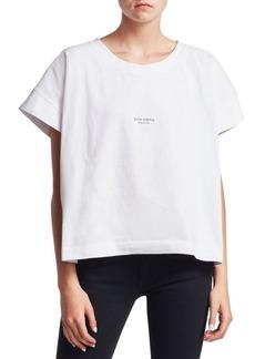 Acne Oversized Cotton Logo Tee