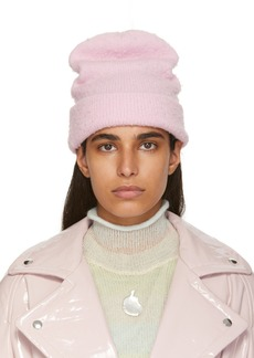Acne Studios Pink Wool & Cashmere Beanie