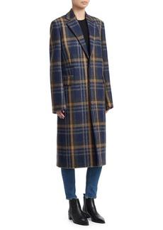 Acne Studios Plaid Wool Coat