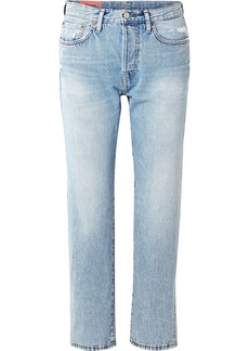Acne Studios 1997 Distressed High-rise Straight-leg Jeans