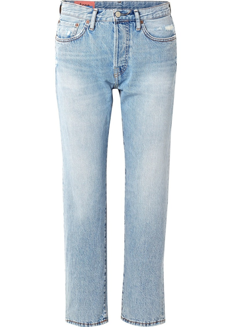 Acne Studios 1997 Distressed High-rise Straight-leg Jeans