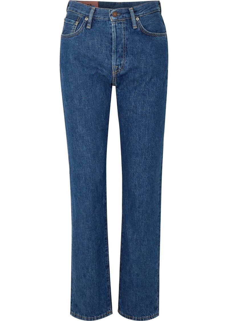 Acne Studios 1997 Organic High-rise Straight-leg Jeans