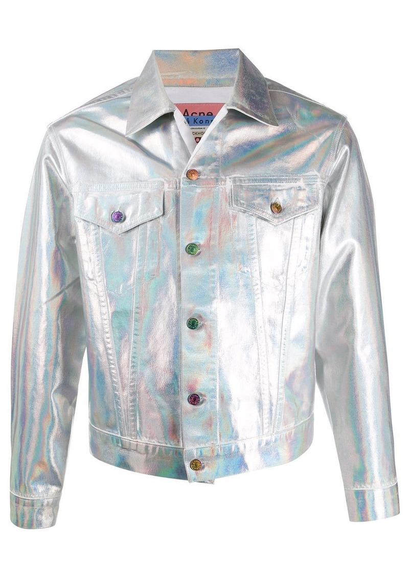 Acne Studios 1998 Holographic Foil denim jacket