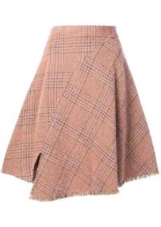 Acne Studios A-line plaid skirt